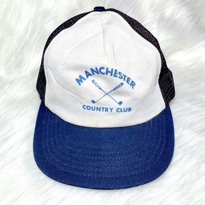 Vintage Manchester Hat Baseball Cap Country Club